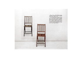Joseph Kosuth. One and three chairs