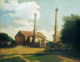 Карл-Фридрих Петрович Бодри Россия 1812 - 1894. Moscow. Outpost at the entrance to the city. 1848