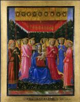 Беноццо Гоццоли. Дева с младенцем и ангелами
