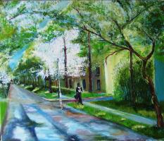 Озерск. Весна на улице А.С.Пушкина
