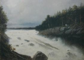 Petr Petrovich Sokolov. The Waterfall Imatra.