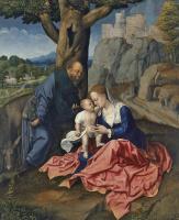 Бернард ван Орлей. Святое семейство. Отдых на пути в Египет