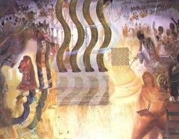Сальвадор Дали. Сальвадор Дали, пишущий портрет Гала в апофеозе доллара