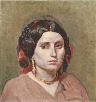 Александр Андреевич Иванов. Голова молодой женщины с серьгами и ожерельем. 1835-1840-е
