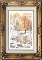Иван Александрович Долгоруков. Зима. Лесной ручей