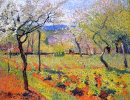 Henri Marten. Blooming spring garden