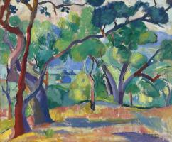 Henri Manguin. Landscape in Saint-Tropez