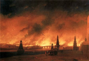 Ivan Aivazovsky. The great Moscow fire of 1812
