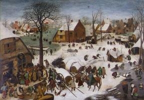 Pieter Bruegel The Elder. The census at Bethlehem