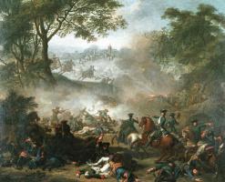 ЖАН-МАРК НАТЬЕ. Битва при Лесной. 1717
