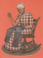 Грант Вуд. Ферма в Хилл. Бабушка