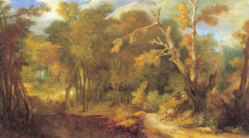 Николас Ларгиллиерр. Лесной пейзаж