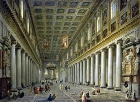 Джованни Паоло Паннини. Внутренний вид церкви Санта-Мария Маджоре в Риме