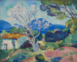 Henri Manguin. Flowering almond