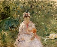 Berthe Morisot. Nanny Angela, feeding Julie Manet
