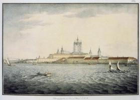 Самуил Петрович Шифляр. Вид Невы у Смольного собора