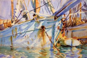 John Singer Sargent. In a Levantine port