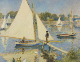 Pierre-Auguste Renoir. Sailboats in Argenteuil
