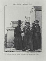 Адольф фон Менцель. Лейпцигские народные сценки, отдельный лист из юмористического журнала (01)
