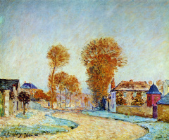 Alfred Sisley. The first frost