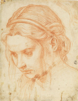 Андреа дель Сарто. Этюд головы молодой женщины