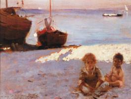 Джон Сингер Сарджент. Пляж на Капри
