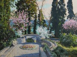 "Artem Yurievich Puchkov. ""Spring in the Vorontsovsky Park. Alupka""."