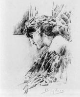 Михаил Александрович Врубель. Демон смотрящий. Иллюстрация к поэме М.Ю. Лермонтова «Демон»