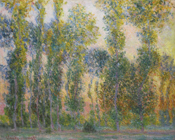 Claude Monet. Poplars at Giverny, sunrise
