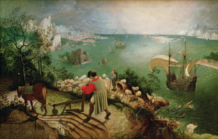Pieter Bruegel The Elder. Landscape with the fall of Icarus
