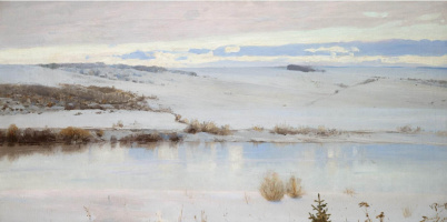 Vasily Dmitrievich Polenov. The first snow
