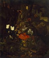 Отто Марсеус ван Скрик. Цветы, бабочки и змеи