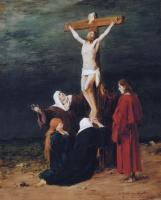 """Михай Либ Мункачи. Женщины у подножия креста. Эскиз для картины """"Голгофа"""""""