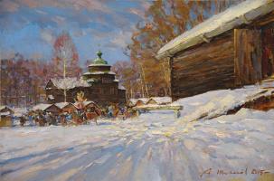 Alexander Victorovich Shevelyov. Kostroma.Farewell to winter.Oil on canvas 40 x 60 cm 2015