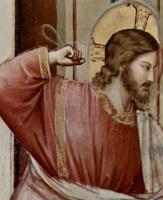 Джотто ди Бондоне. Изгнание торговцев из храма, деталь: Христос
