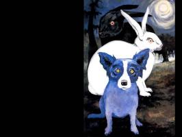 George Rodrigue. Blue собака014