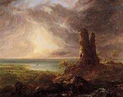 Томас Коул. Романтический пейзаж с разрушенной башней