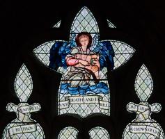 """Уильям Моррис. """"Окно Люси"""", витражное окно церкви аббатства Малмсбери. Фрагмент"""