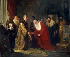Ян Матейко. Зигмунт I присваивает статус и титулы профессорам Ягеллонского университета в 1535 году