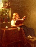 Иоганн Георг Мейер фон Бремен. Девушка читает у окна