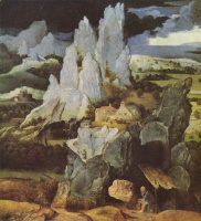 Иоахим Патинир. Скалистый пейзаж со св. Иеронимом