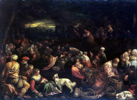 Francesco Bassano. The miraculous feast of bread and fish