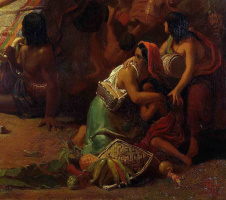 Джон Эверетт Милле. Писарро берет в плен перуанских инков. Фрагмент