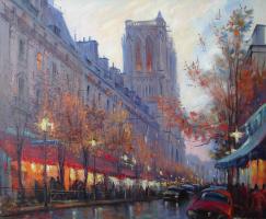 Париж. Ночной Нотр-Дам