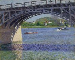 Гюстав Кайботт. Сена и мост в Аржантёй