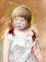 Мэри Кассат. Ребенок с челкой в голубом платье