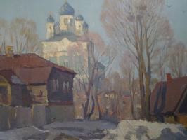 Winter yard in Yelets