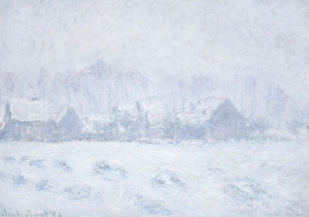 Claude Monet. Effet de neige à Giverny
