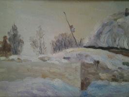 Село Казаки. Зима. Годы послевоенные.