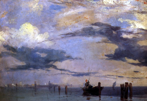 Richard Parkes Bonington. View of the lagoon near Venice